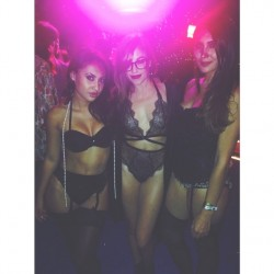 Francia Raisa Dressed Sexy at a Playboy Mansion Party - 8/16/14