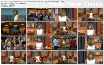 Taylor Swift Worldwide Livestream HD 720p August 18, 2014
