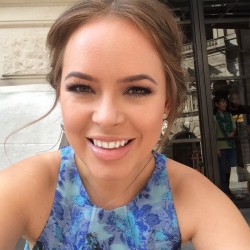 Tanya Burr in a silky floral dress at the BAFTA awards 5/18/14 (1 new add)