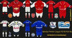 FIFA14 Barclays Premier League HD Kit Pack by aminshd & MoHaMmAd