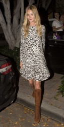 Rosie Hutnington-Whiteley Leaving Fig & Olive in West Hollywood 08-20-2014