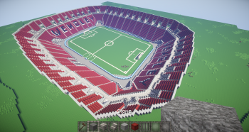 Wip wembley stadium creative mode minecraft java edition completed bottom part of first tier and lettering on opposite end sciox Gallery