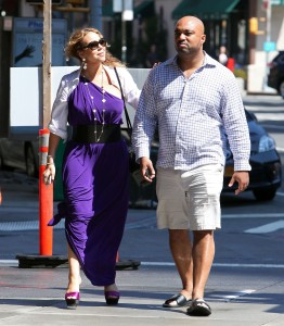 Mariah Carey strolls around New York City August 25,