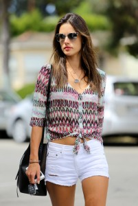 Alessandra Ambrosio running errands in Santa Monica at Sweet Lady Jane August 25,