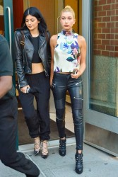 Kendall & Kylie Jenner and Hailey Baldwin - Hanging out in NYC 8/28/14
