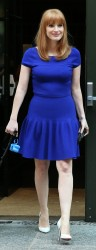 Jessica Chastain Out In NYC 08-27-2014