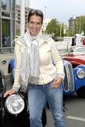 Katarina Witt At the finish of the Classic Rally Hamburg-Berlin August 30-2014 x16