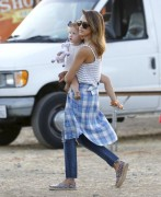 Jessica Alba - At the Malibu Chili Cook-Off 9/1/14