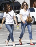 Minka Kelly & Mandy Moore - Wearing matching outfits in LA 9/4/14