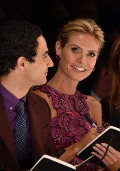 Heidi Klum - Project Runway Spring 2015 Fashion Show in NYC 9/5/14