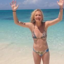 Yvonne Strahovski - BIKINI - ALS Ice Bucket challenge  09/06/14 vidcaps