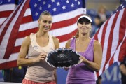 Martina Hingis & Flavia Pennetta Women's doubles final match 2014 US Open September 6-2014 x11