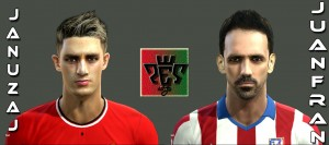 Download Januzaj & Juanfran Face by Eohugo For PES 2013