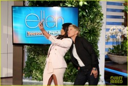 Kim Kardashian takes the ice bucket challenge on Ellen 9/9/14