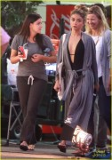 Ariel Winter & Sarah Hyland - On set of Modern Family  9/10/14