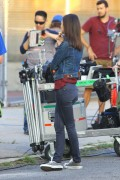 Victoria Justice - Filming 'Eye Candy' in Brooklyn 9/17/14