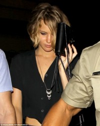 Jennifer Lawrence - Leaving the Coldplay Concert in LA 9/17/14
