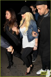 Christina Aguilera - Leaving the Drake vs. Lil Wayne Concert in LA 9/22/14