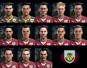 Download PES 2013 Face Pack Burnley FC by bradpit62