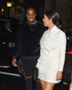 Kim Kardashian - Going to a fashion week party in Paris 9/24/14