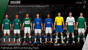 PES2014 SE Palmeiras Centenary Kits Pack 2014/15 v2 by Lukas RK