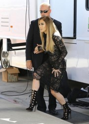 Jennifer Lopez - On the set of 'American Idol' in Hollywood 10/2/14