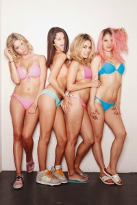 Selena Gomez, Vanessa Hudgens, Ashley Benson, and Rachel Korine in Bikinis For a Hot Spring Breakers Promo Pic