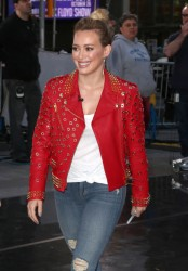 Hilary Duff at 'Good Morning America' studios in New York 10/7/14