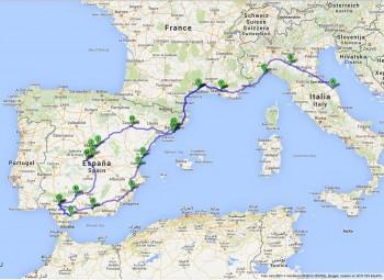 Cartina Italia Francia Spagna.Tour Della Spagna Poco Piu Di 300 Euro Per 5527 Km A