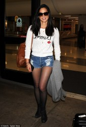 Olivia Munn -  at LAX Airport 10/14/14