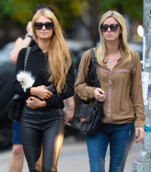 Paris & Nicky Hilton - Hanging out in NYC 10/15/14