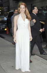 Jessica Chastain - Arriving at the 'Late Show with David Letterman' in NYC 10/16/14