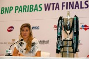 Eugenie Bouchard press conference BNP Paribas WTA Finals in Singapore October 19-2014 x6