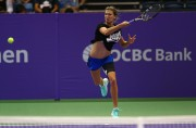 Eugenie Bouchard Practices prior to the BNP Paribas WTA Finals at Singapore October 18-2014 x4