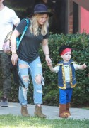 Hilary Duff - Taking her son to a Halloween Party in Studio City 10/18/14