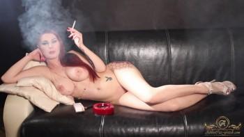 Same Nude cigar smoking riding