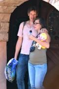 Milla Jovovich Spends the day at Disneyland in Anaheim October 23-2014 x32