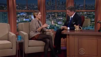 SHAILENE WOODLEY - LEGGY in HOSE - Late Late Show 10,23,14