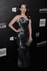 Kat Dennings - 2014 amfAR LA Inspiration Gala in Hollywood 10/29/14