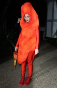Katy Perry - Dressed As A Cheeto  - Arriving At Kate Hudson's Halloween Party - Oct 30 2014 *TAGGED*