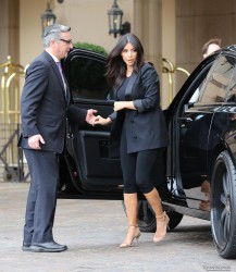 Kim Kardashian - Arriving at Kourtney's Baby Shower in Beverly Hills 11/12/14