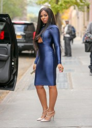 "Ashanti - Leaving ""The View"" Taping In A Tight Blue Dress...Ass Shots (11/13/14)"