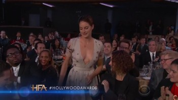 SHAILENE WOODLEY - CLEAVAGE - Hollywood Film Awards 2014