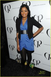 Keke Palmer leggy in pantyhose attends the Charlotte Ronson Fall 2010 Fashion Show during Mercedes-Benz Fashion Week 2/11/10