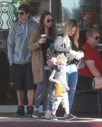 Hilary & Haylie Duff - Leaving Starbucks in Beverly Hills 11/29/14