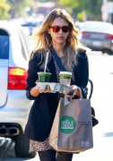 Jessica Alba - Arriving at her office in Santa Monica 12/8/14