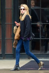 Emma Roberts - Leaving her hotel in NYC 12/10/14