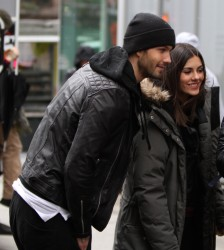 Victoria Justice - Filming 'Eye Candy' at John Jay College - 12/10/14