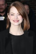 Emma Stone - Arriving at The Late Show with David Letterman in NYC 12/15/14