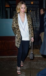 Jennifer Lawrence - Out for dinner in NYC 12/16/14